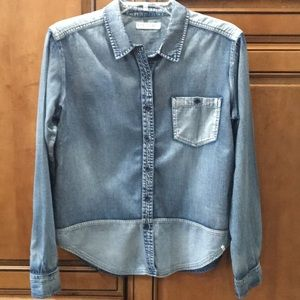 Volcom faded denim shirt size S